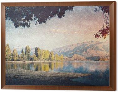 Framed Canvas Grunge styled lanscape