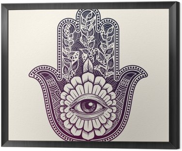 Hamsa. hand of Fatima, good luck symbol