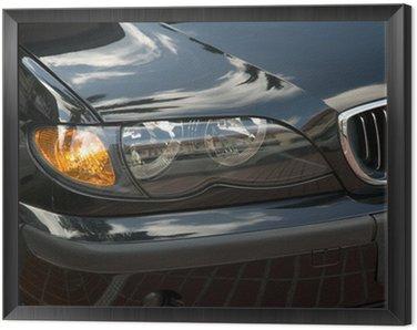 Framed Canvas head lights of a car