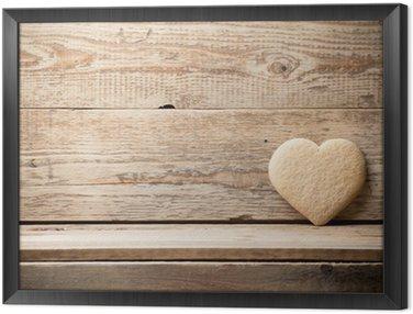 Framed Canvas Heart.