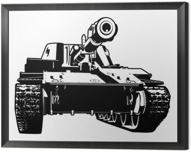 Framed Canvas heavy tank