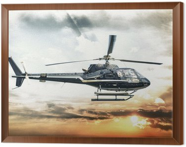 Framed Canvas Helicopter for sightseeing