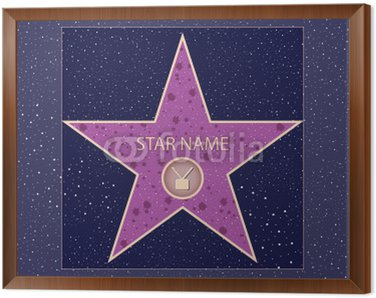 Framed Canvas hollywood walk of fame: television star in vector
