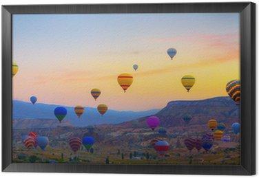 Hot air balloons sunset