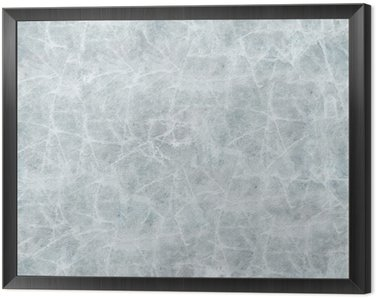 Ice cover seamless texture. Framed Canvas