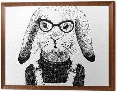 illustration of dressed up bunny girl
