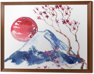 Framed Canvas Japan Cherry blossom.