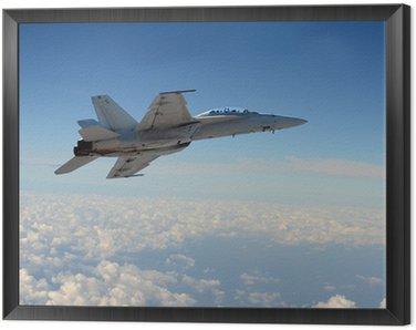 Jetfighter in flight
