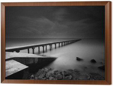 Jetty or Pier in black and white