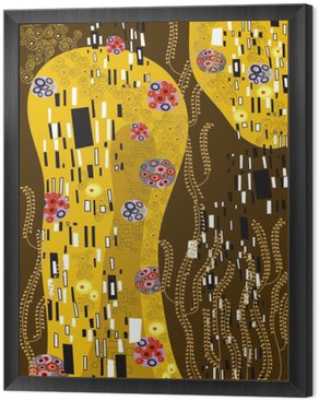klimt inspired abstract art