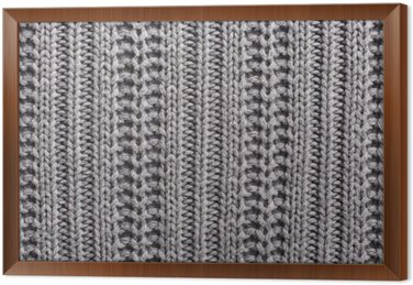 Knitting wool close up texture Framed Canvas