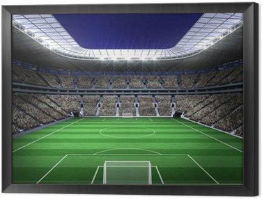 Framed Canvas Large football stadium with lights