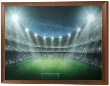 Framed Canvas Light of stadium