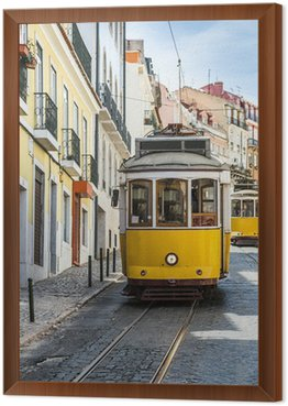 Framed Canvas Lisbon's Gloria funicular