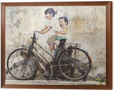 """""""Little Children on a Bicycle"""" Mural."""