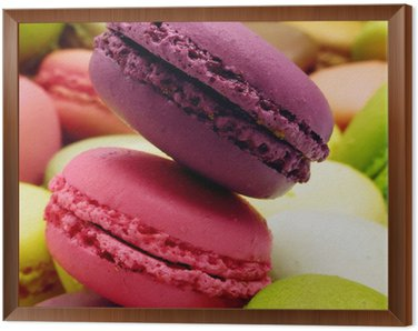 macarons cassis fraise pistache