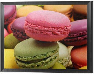 Framed Canvas macarons
