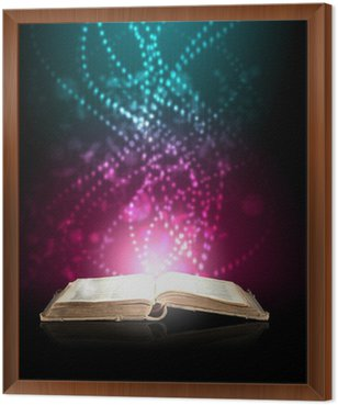 Framed Canvas Magic book