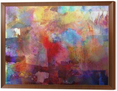 Framed Canvas malerei texturen