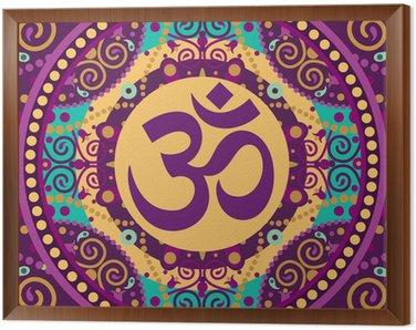 Framed Canvas mandala ohm