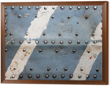 Metal texture with rivets, aircraft fuselage