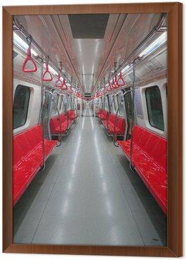 Framed Canvas metro