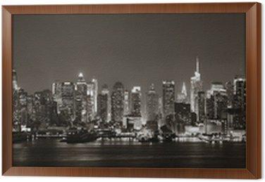 Framed Canvas Midtown Manhattan skyline