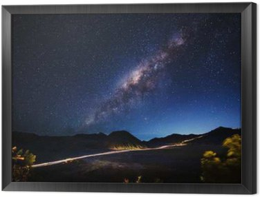 Framed Canvas Milky way across Mt.Bromo,East Java,Indonesia