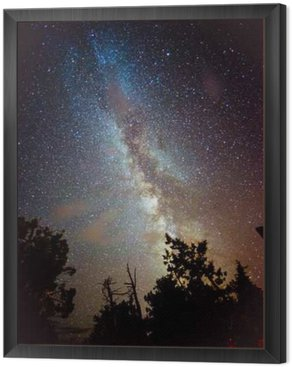 Framed Canvas Milky Way Rising over California