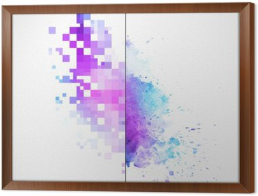 Modern vector background with watercolor blot Framed Canvas