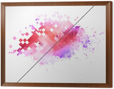 Framed Canvas Modern vector background with watercolor blot