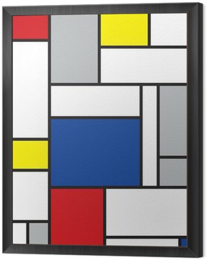 Framed Canvas mondrian inspired art
