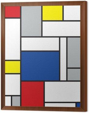 Framed Canvas mondrian inspired art