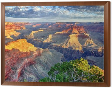 Framed Canvas morning light at Grand Canyon