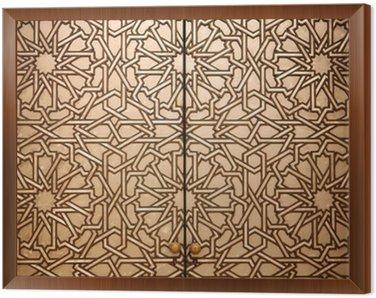 Framed Canvas Moroccan doorway detail