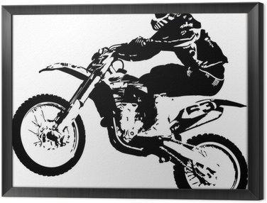 Framed Canvas Motocross jumper