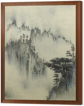 Mountain pine and fog