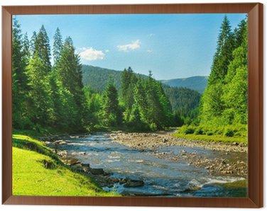 mountain river Framed Canvas