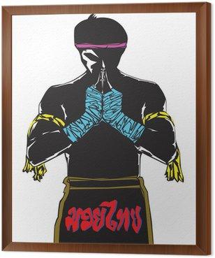 Framed Canvas Muay thai