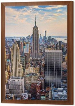 New York City at Dusk Framed Canvas