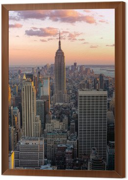 Framed Canvas New York Empire state building
