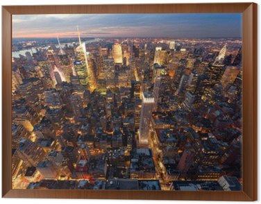 New York Framed Canvas
