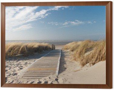 Framed Canvas Nordsee Strand auf Langeoog