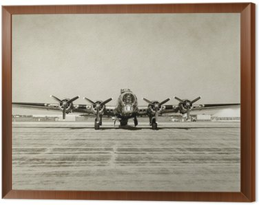 Old bomber front view