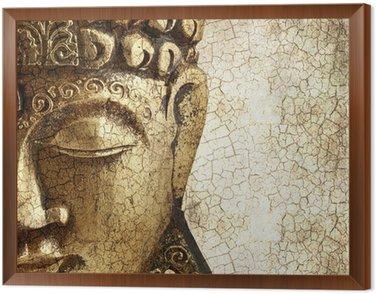 Framed Canvas Old Buddha