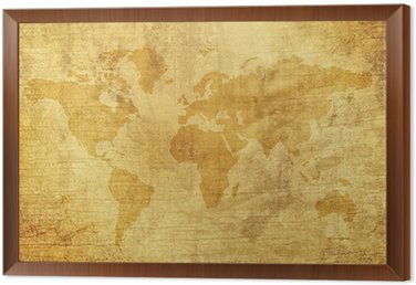 Old world map wall mural pixers we live to change old world map framed canvas gumiabroncs Gallery