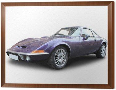 Framed Canvas Opel GT