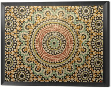 Framed Canvas Oriental mosaic decoration in Morocco