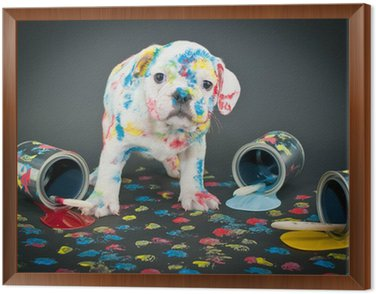 Framed Canvas Painted Pooch