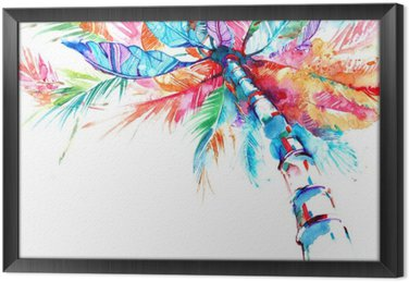 palm Framed Canvas